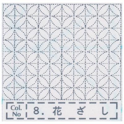 NH-08 NASKA 刺し子布ふきん 花ざし (白)