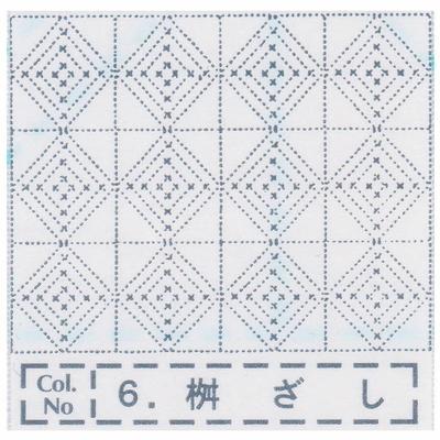 NH-06 NASKA 刺し子布ふきん 枡ざし (白)