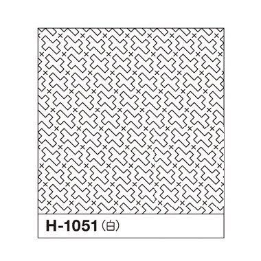 オリムパス 一目刺しの花ふきん布パック 流し十字 白 H-1051