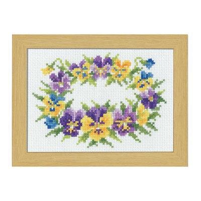 No.7508 オリムパス 刺繍キット 12ヶ月の花フレーム 3月 パンジー