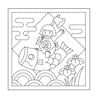オリムパス 花ふきん布パック 端午の節句 白 H-1026
