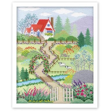 花園の家 刺繍キット No.7398