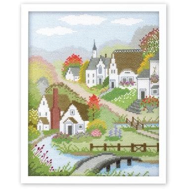 村の秋 刺繍キット No.7400