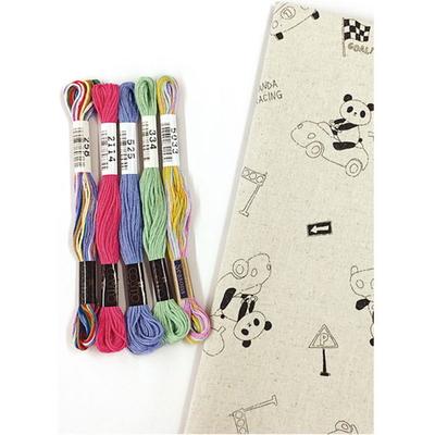 No.41005 ルシアン 刺繍キット お絵かきファブリック レーサーパンダ