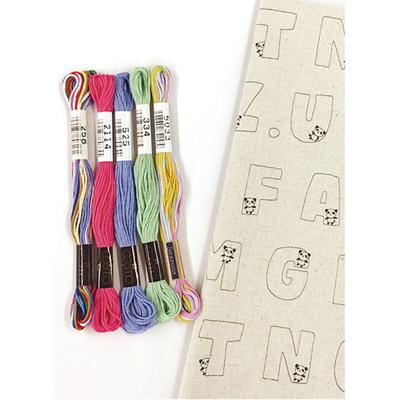 No.41003 ルシアン 刺繍キット お絵かきファブリック パンダのABC
