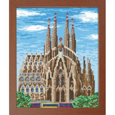 No.7474 オリムパス 刺繍キット ワールドセレクション サグラダファミリア スペイン