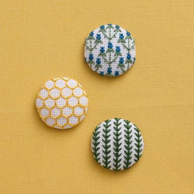 地刺し 3つの包みボタン natural(ナチュラル) No.2303