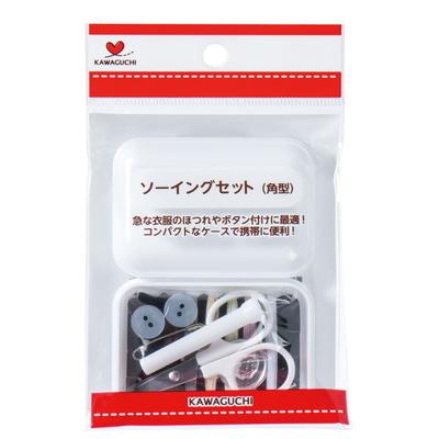 13-276 KAWAGUCHI ソーイングセット 角型 白