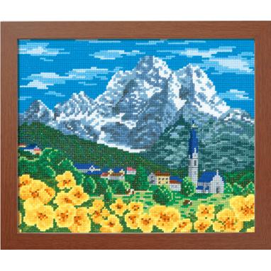 No.7476 オリムパス 刺繍キット ワールドセレクション アルプスの山並み スイス