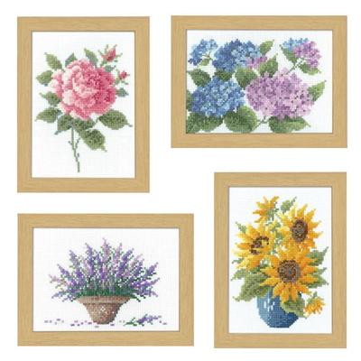 No.7511~7514セット オリムパス 刺繍キット 12ヶ月の花フレーム
