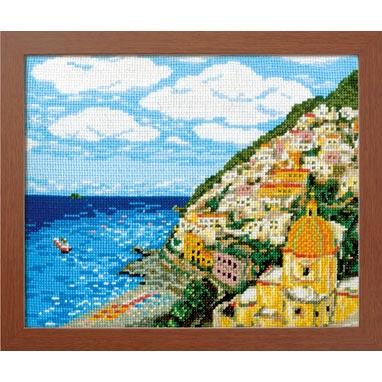 No.7437 オリムパス 刺繍キット ワールドセレクション アマルフィ海岸 イタリア