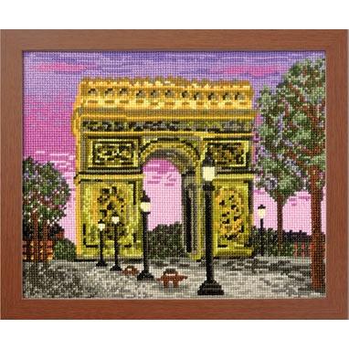 No.7439 オリムパス 刺繍キット ワールドセレクション パリの凱旋門 フランス