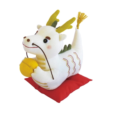 幸せ掴む白い龍 パッチワークキット PA-564