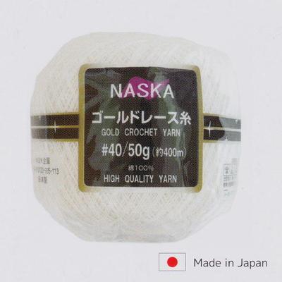 NASKA ゴールドレース糸 ♯40 50g玉巻×3玉入り