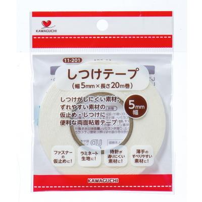 11-201 KAWAGUCHI しつけテープ 幅5mm