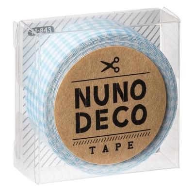 11-843 KAWAGUCHI ヌノデコテープ みずいろチェック