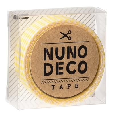 11-844 KAWAGUCHI ヌノデコテープ きいろチェック