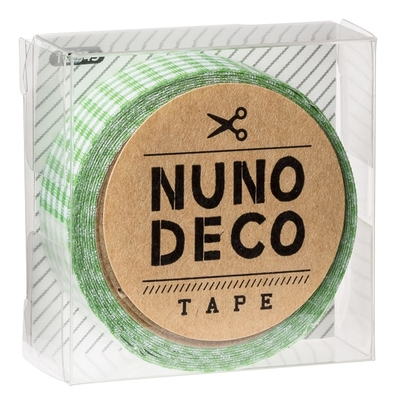 11-845 KAWAGUCHI ヌノデコテープ みどりチェック