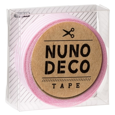 11-847 KAWAGUCHI ヌノデコテープ ももいろしましま