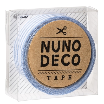 11-848 KAWAGUCHI ヌノデコテープ みずいろしましま