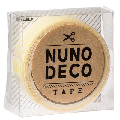 11-849 KAWAGUCHI ヌノデコテープ きいろしましま