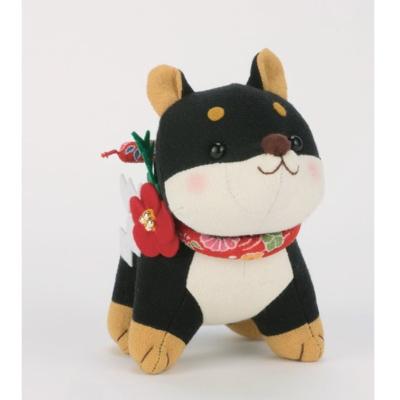 福招き犬 黒柴 ぬいぐるみ パッチワークキット PA-756
