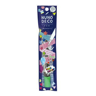 15-325 KAWAGUCHI ヌノデコペン 蛍光グリーン
