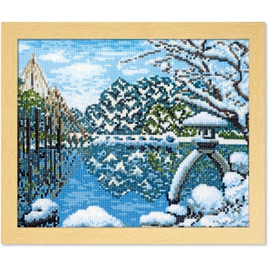 No.7417 オリムパス 刺繍キット 四季を彩る「日本の名所」 冬の兼六園