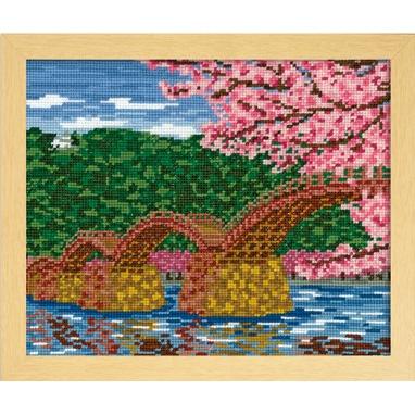 No.7459 オリムパス 刺繍キット 四季を彩る「日本の名所」 桜と錦帯橋