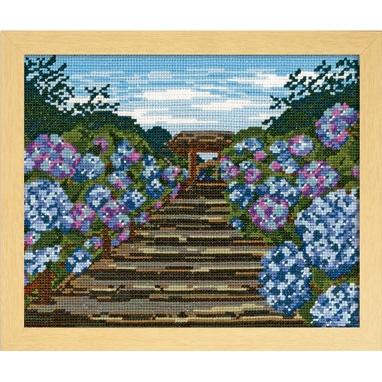 No.7460 オリムパス 刺繍キット 四季を彩る「日本の名所」 鎌倉明月院の紫陽花