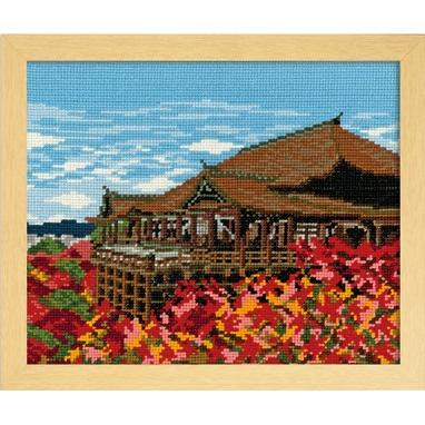 No.7461 オリムパス 刺繍キット 四季を彩る「日本の名所」 紅葉と清水寺