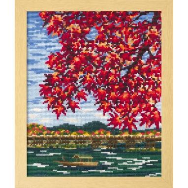 No.7388 オリムパス 刺繍キット 四季を彩る「日本の名所」 紅葉の嵐山