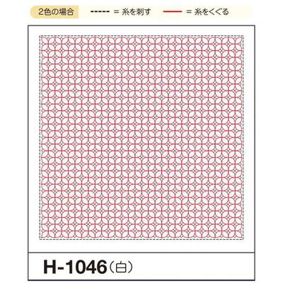 H-1046 オリムパス くぐり刺し 花ふきん布パック 朝顔 (白)