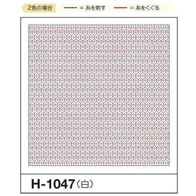 H-1047 オリムパス くぐり刺し 花ふきん布パック 亀甲花刺し (白)