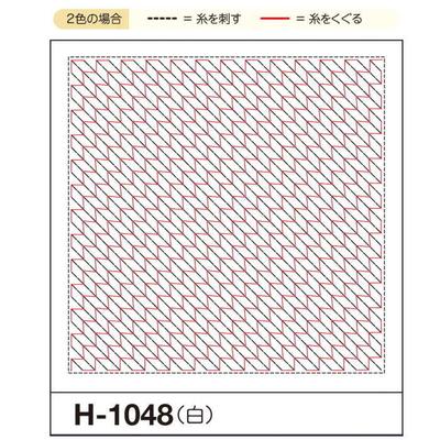 H-1048 オリムパス くぐり刺し 花ふきん布パック 矢羽根 (白)