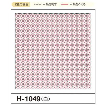 H-1049 オリムパス くぐり刺し 花ふきん布パック 銭亀 (白)
