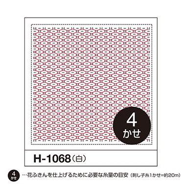 H-1068 オリムパス くぐり刺し 花ふきん布パック 福豆 (白)