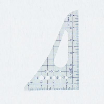 25-015 クロバー 方眼三角縮尺 1/4