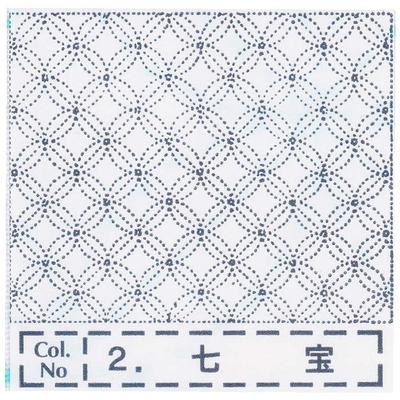 NH-02 NASKA 刺し子布ふきん 七宝 (白)