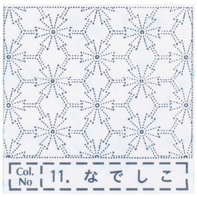 NH-11 NASKA 刺し子布ふきん なでしこ (白)