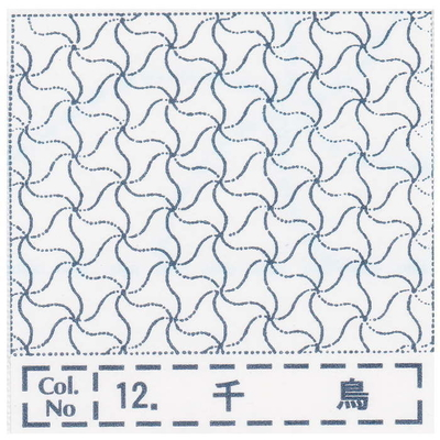 NH-12 NASKA 刺し子布ふきん 千鳥 (白)