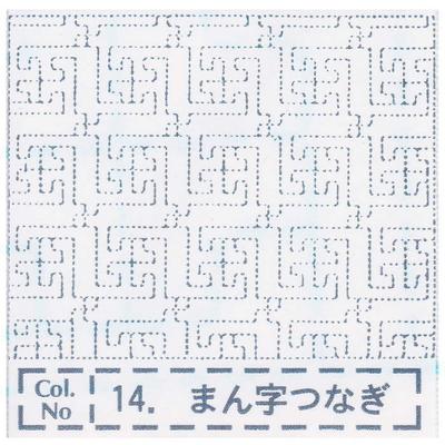NH-14 NASKA 刺し子布ふきん まん字つなぎ (白)