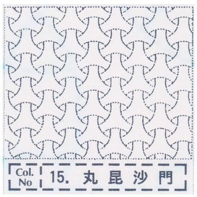 NH-15 NASKA 刺し子布ふきん 丸毘沙門 (白)