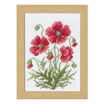 No.7509 オリムパス 刺繍キット 12ヶ月の花フレーム 4月 ポピー