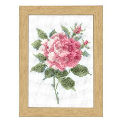 No.7511 オリムパス 刺繍キット 12ヶ月の花フレーム 5月 ピンクローズ