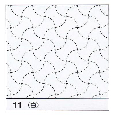 H-11 オリムパス 花ふきん布パック 分銅つなぎ (白)