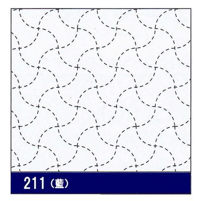 H-211 オリムパス 花ふきん布パック 分銅つなぎ (藍)