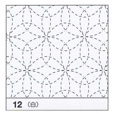 H-12 オリムパス 花ふきん布パック 花刺し (白)