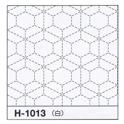 H-1013 オリムパス 花ふきん布パック 霰亀甲 (白)