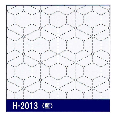 H-2013 オリムパス 花ふきん布パック 霰亀甲 (藍)